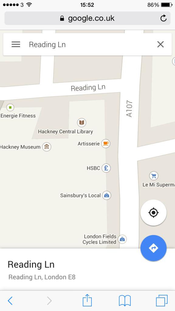Apt Street Names: Reading Lane