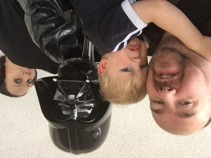 Xander meets Darth Vader