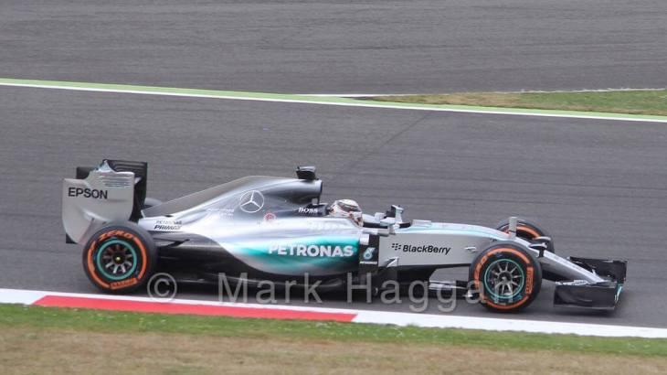 Lewis Hamilton in the 2015 British Grand Prix