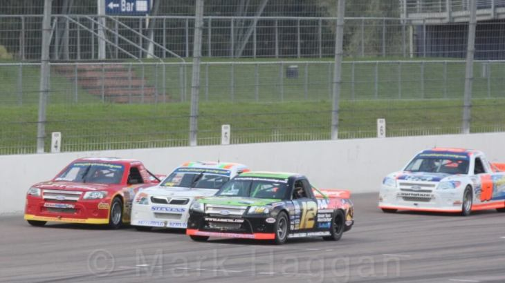 Pick up truck racing at Rockingham