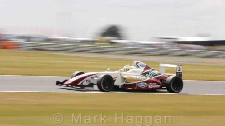 Sennan Fielding in British Formula 4 at Snertterton
