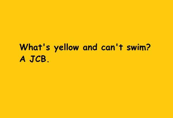 yellow and cannot swim JCB