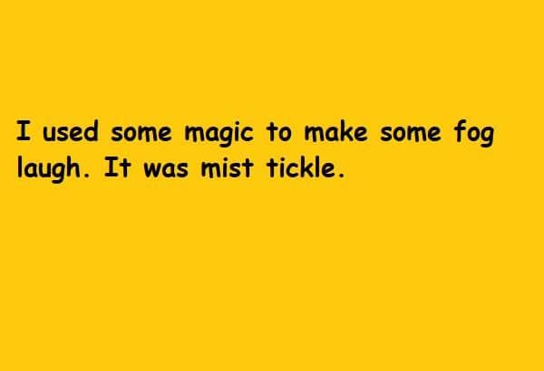 it was mist tickle