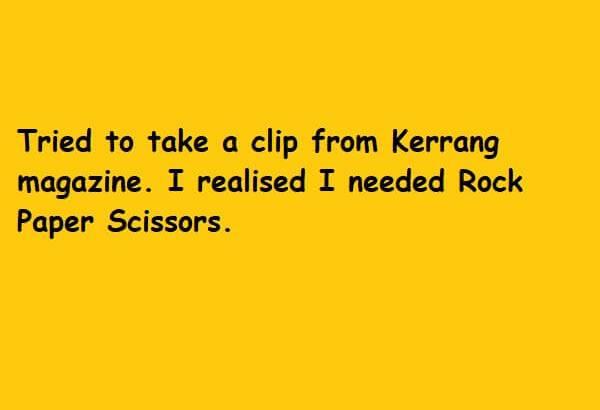 I needed rock paper scissors