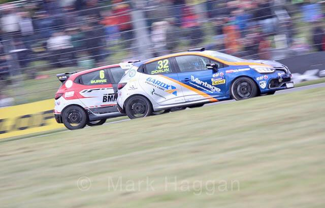 Bradley Burns and James Dorlin at Donington