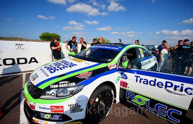 Jake Hill on the BTCC grid at Thruxton 2018
