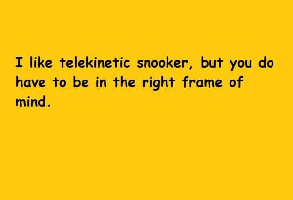 telekinetic snooker