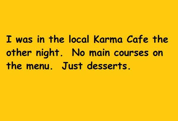 no main courses just desserts