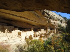 Check it out. This is Cliff Palace at Mesa Verde National Park. We took a tour of these ruins that date back to 1200 A.D. It's absolutely mind-blowing to think that people lived there. I think humans used to be pretty interesting. What happened to us?
