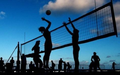 Строительство волейбольной площадки