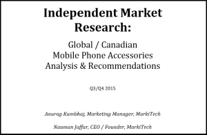 Access our research on global and canadian mobile phone Accessories