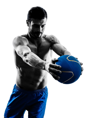 exercise with medicine ball