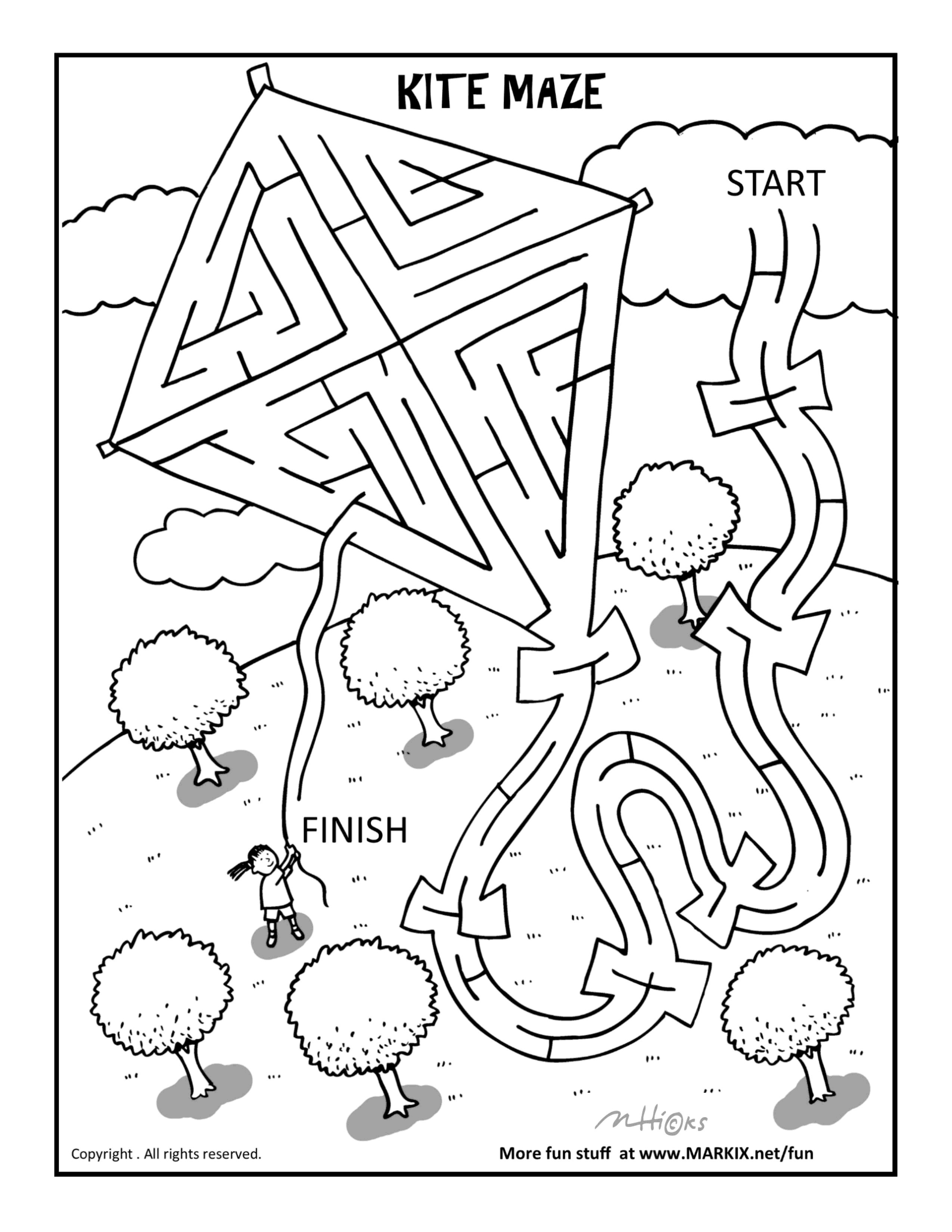 Kite Maze For Kids
