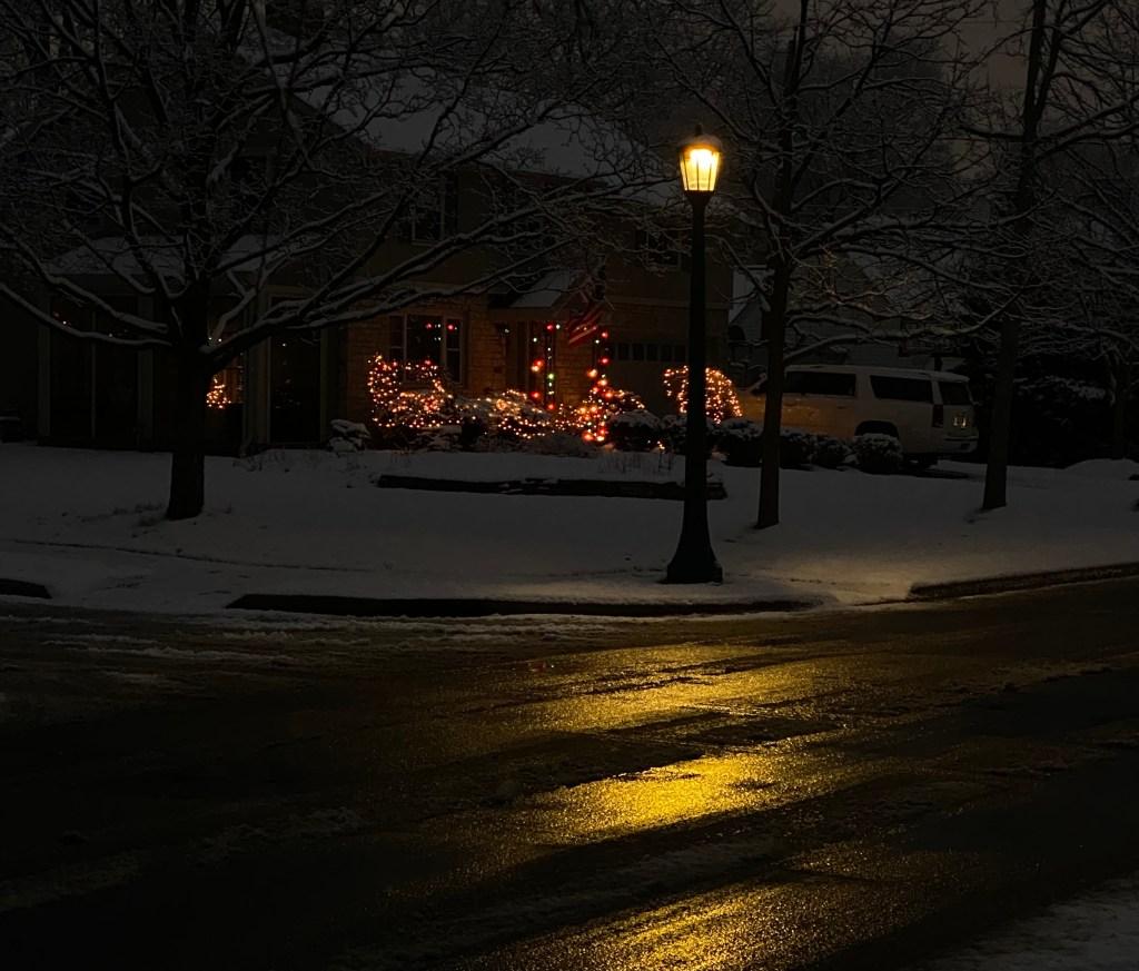 light on road