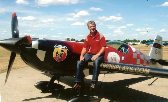 Mark Jefferies at the Panshangar aerobatics day 2010