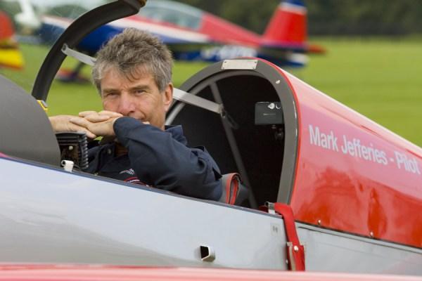 Mark Jefferies Air Displays in cockpit