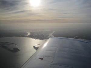 RV7 in the air over Belgium