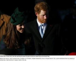 Prince Harry & Kate Duchess of Cambridge smiley face heart and kiss vapour trails in the sky