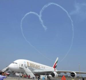 Heart Airbus 380 India