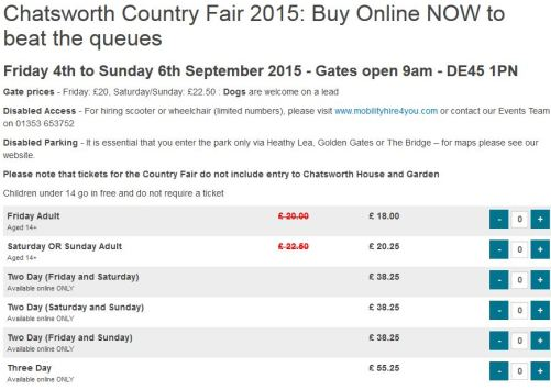 Chatsworth-tickets