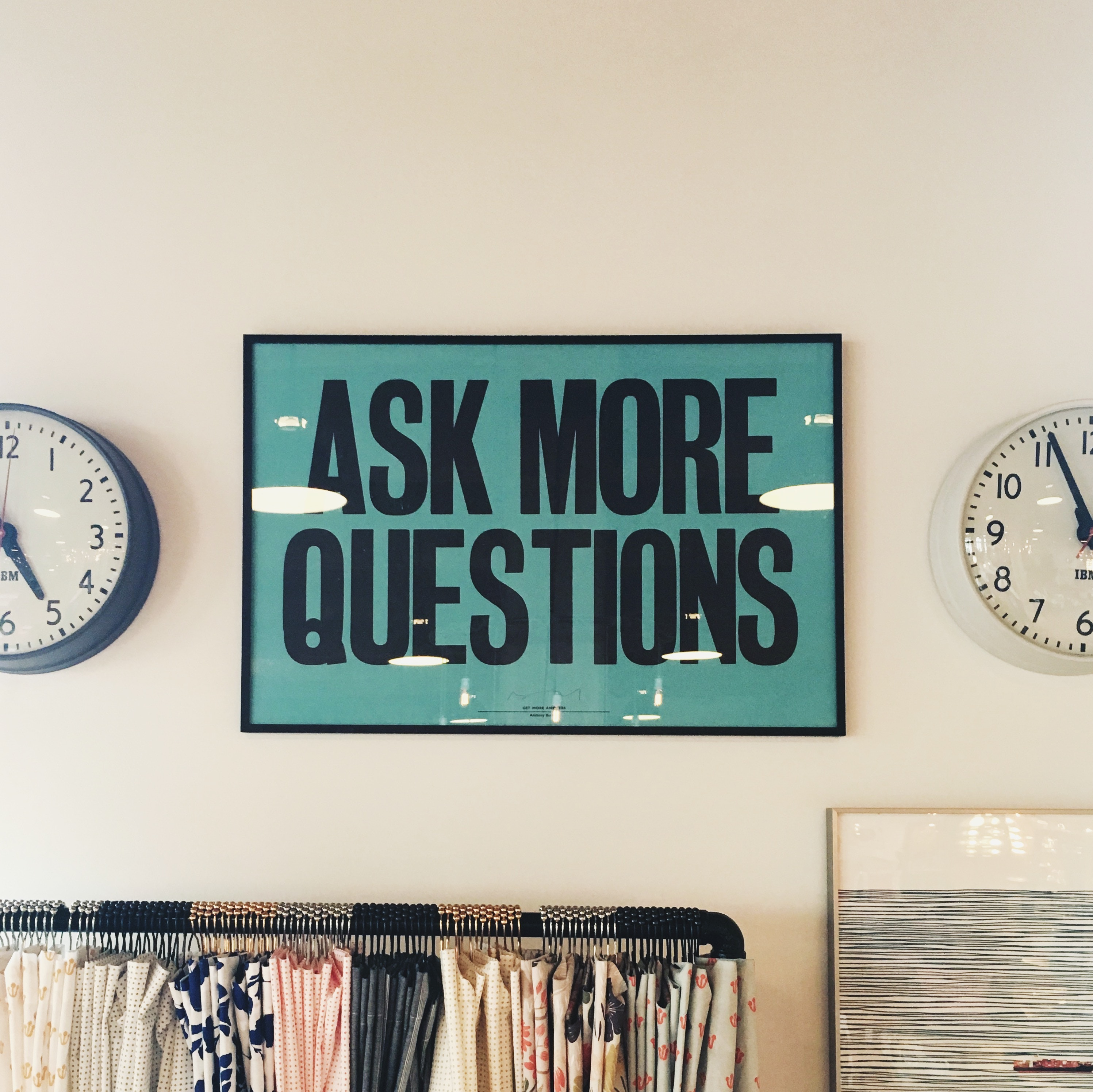 Photo to illustrate an agency groth article about asking Questions
