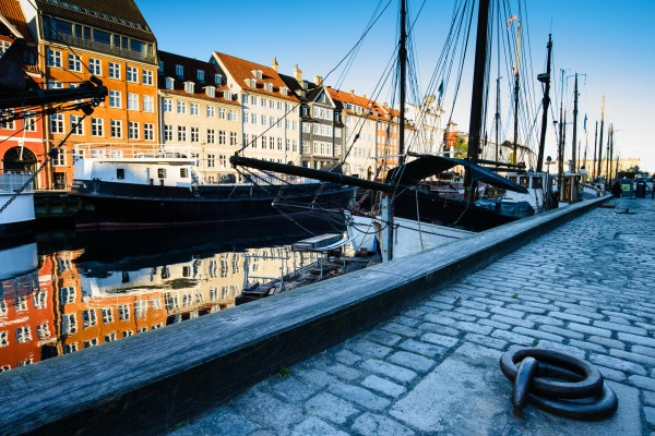 Early on a beautiful morning in Nyhavn