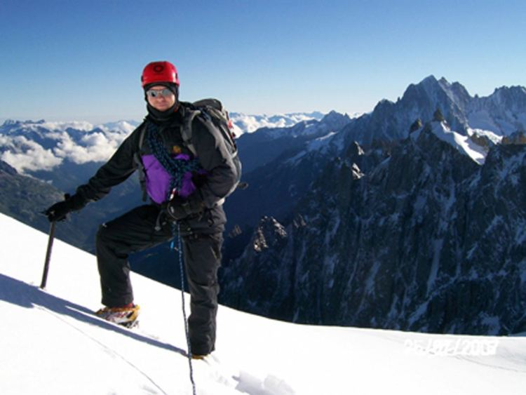 High on the slopes of Mt Blanc