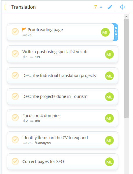 tasks in the ayoa workflow view