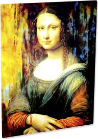 Beautiful Mona Lisa art print painting wall decor