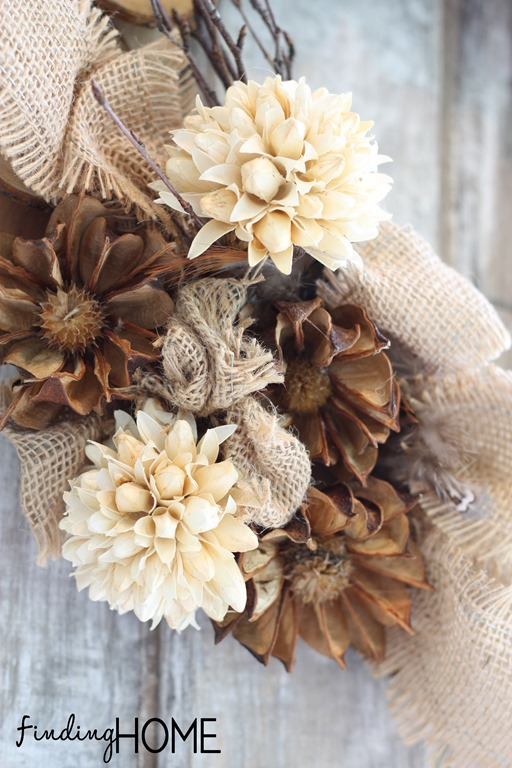 Make A Wood And Burlap Wreath How To Make A Rose