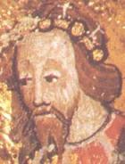 Edward the Black Prince from an illuminated ma...
