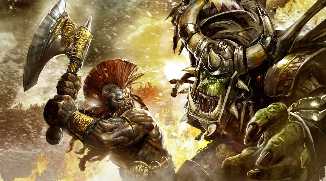 orcs and dwarves fight