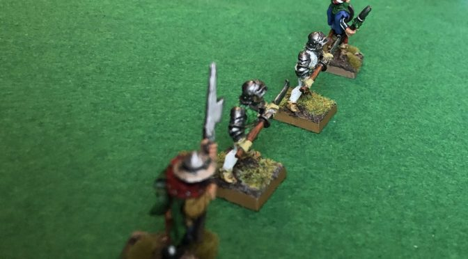 Solo Wargaming: Battle Report Hundred Years War using Middle Earth Strategy Battle Games rules