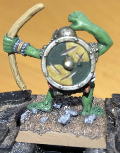 Orc Archer with damaged shield