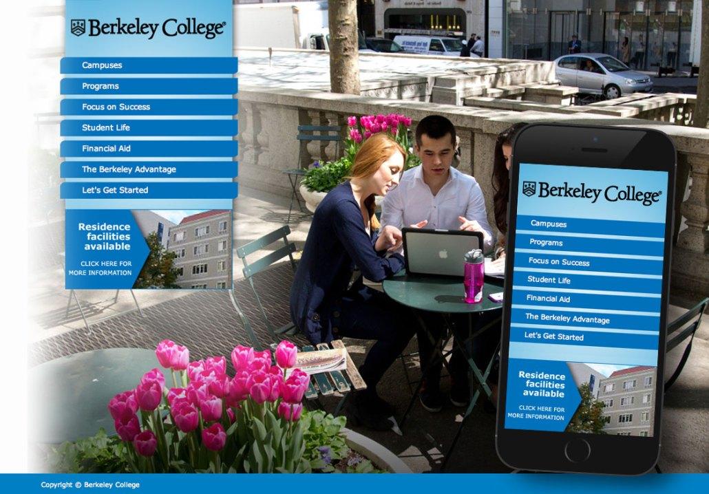 Responsive Website - Berkeley Berkeley College Viewbook
