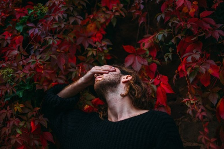 When to break up - man in front of red leaves