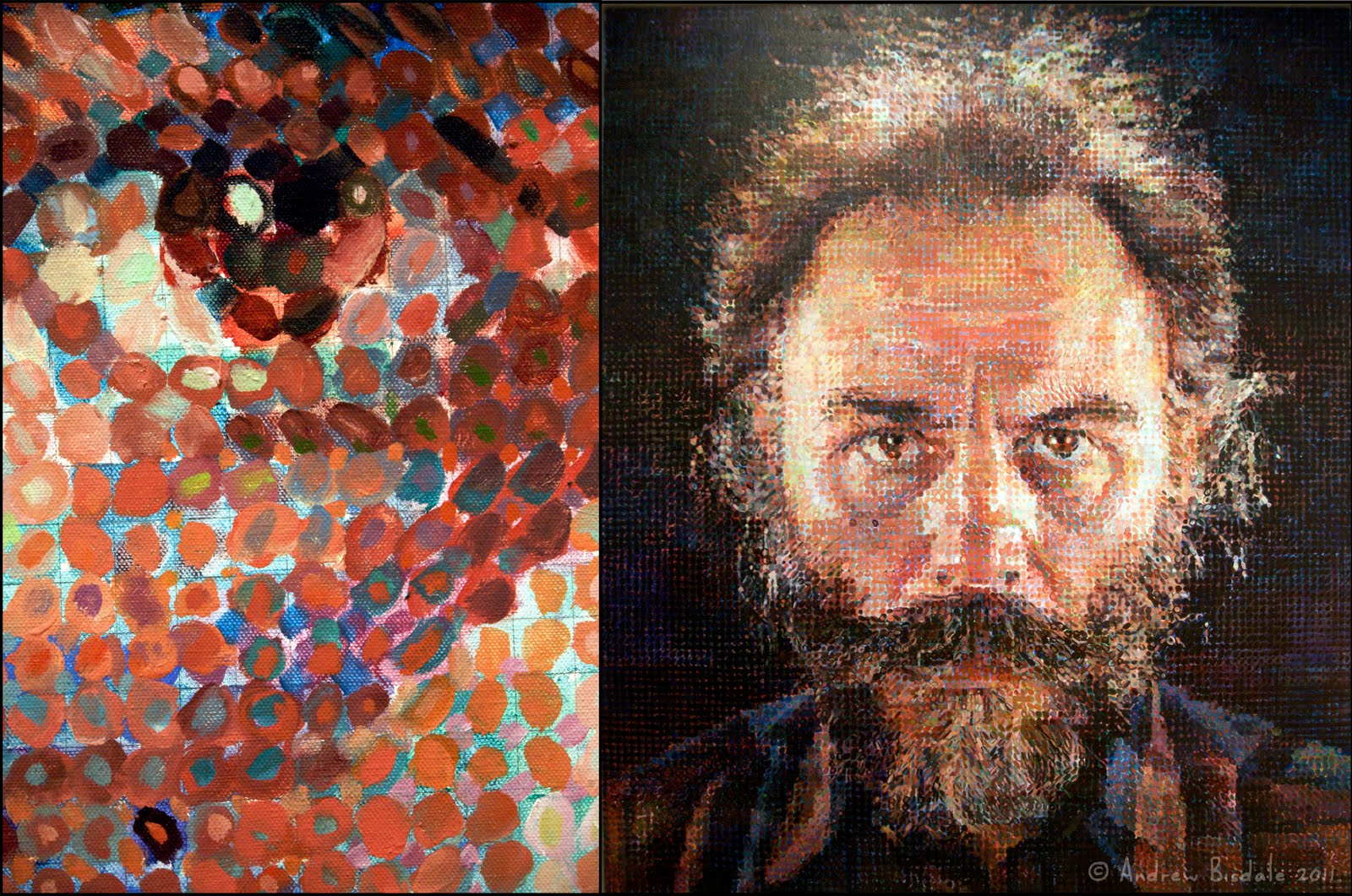 Chuck close cleveland state art for Artistic mural works