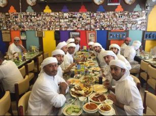 Even the royalties eat here! The crown prince of Dubai enjoying some kebabs at Al Ustad