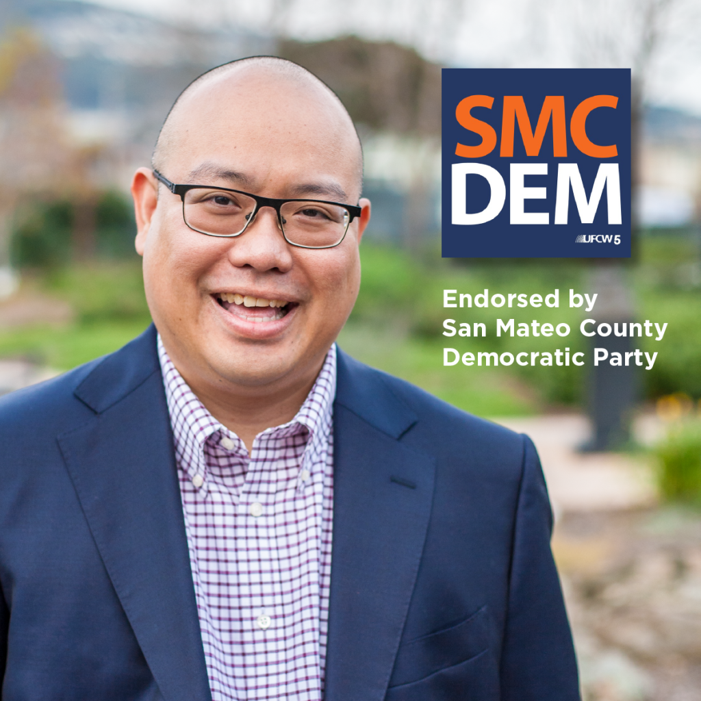 Mark Nagales for South San Francisco City Council. Endorsed by San Mateo Democratic Party
