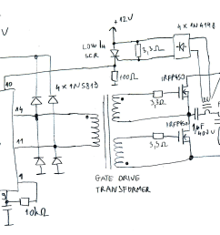 basic sg3525 flyback driver schematic [ 3524 x 1732 Pixel ]