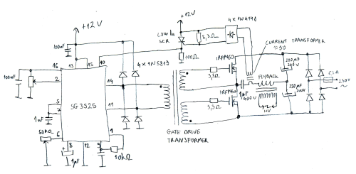 small resolution of basic sg3525 flyback driver schematic