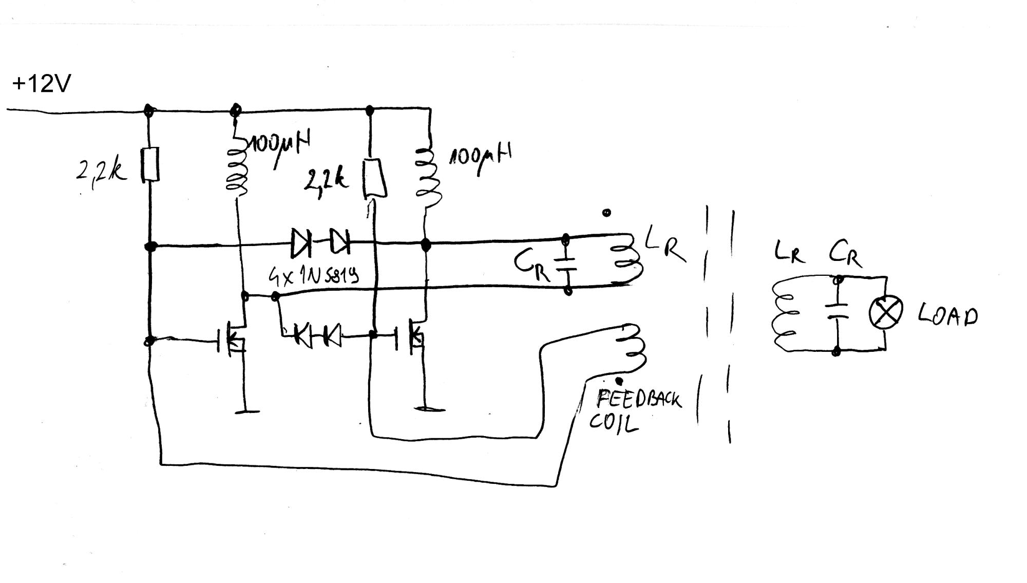 hight resolution of miniature wireless power demonstrator marko s science site wireless power demonstration circuit basic schematic