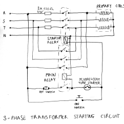 240v Motor Wiring Diagram Single Phase Fan Light Switch Variable Transformer Starter Circuit | Marko's Science Site.
