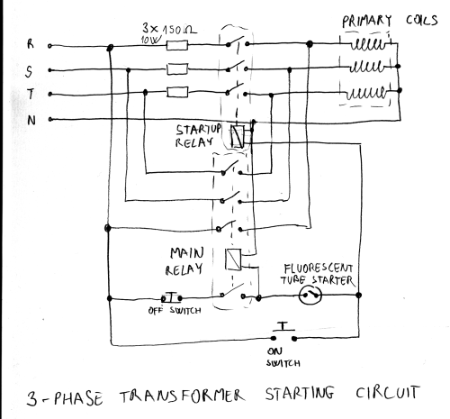small resolution of variable transformer starter circuit marko s science site