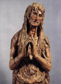 "Donatello, ""St. Mary Magdalen"" (detail) c.1453-55."