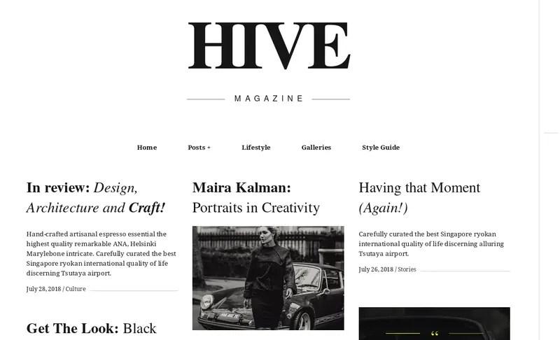 Hive WordPress premium theme