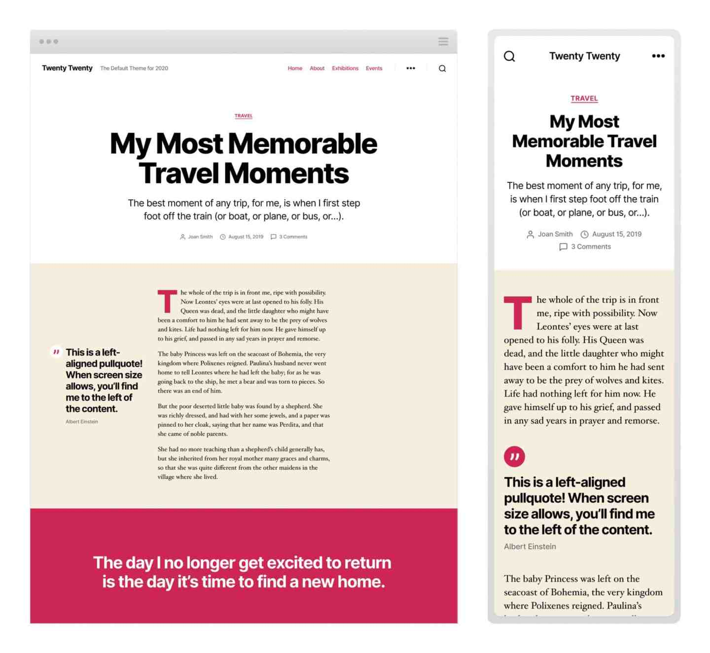 WordPress Twenty Twenty default theme