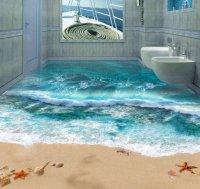 Amazing 3-D Bathroom Floor Art   Markosun's Blog