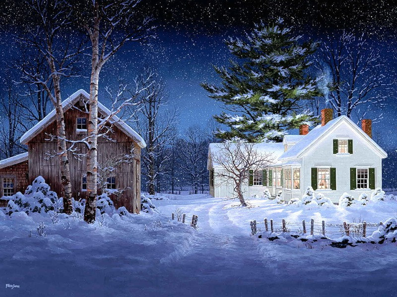 Live Winter Snow Fall Background Wallpaper Fred Swan Art Blog Markovart