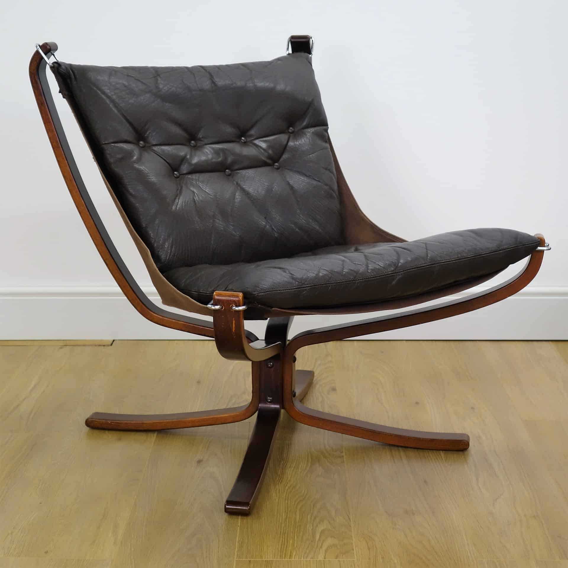 Falcon Chair Brown Leather Low Falcon Chair By Sigur Ressell Mark Parrish Mid
